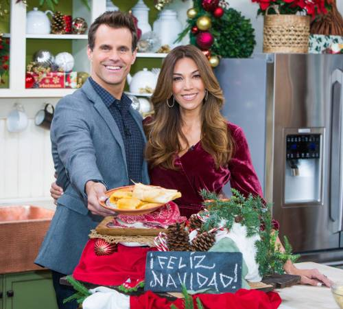Arevalo with her husband Cameron Mathison planning for the holiday